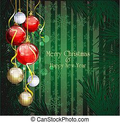 green Christmas festive background
