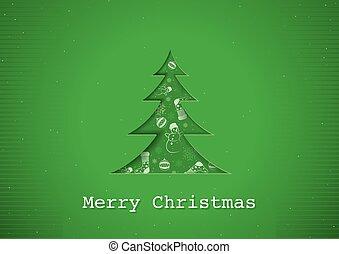 Green Christmas Greeting