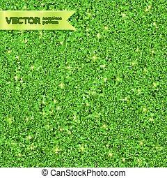 Green Christmas shining glitter seamless pattern