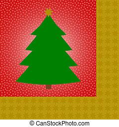 Green christmas tee on red