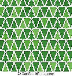 green christmas tree background - vector illustration