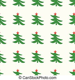 green Christmas tree on a light background seamless pattern. vector illustration for your design