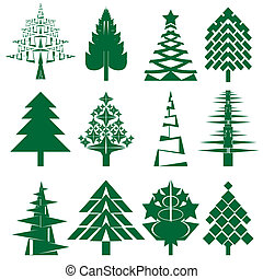 Green Christmas tree series