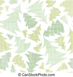 Green Christmas trees silhouettes textile seamless pattern...