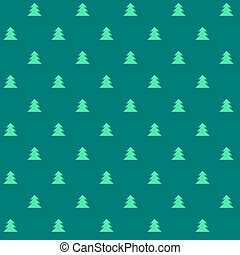 Green Christmas vector seamless pattern with little trees. Xmas cute texture. Christmas pattern. Christmas trees. Wrapping paper motif.