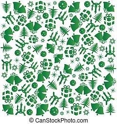 Green Christmas wrapping