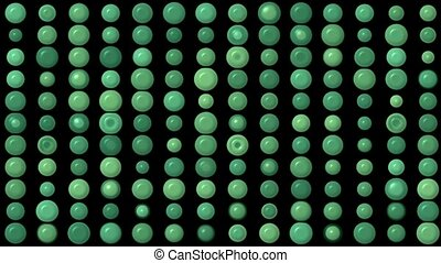 green circle array background