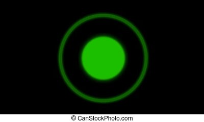 green circle background, seamless loop