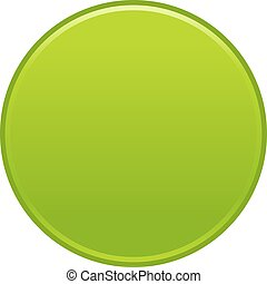 Green circle button empty web internet icon