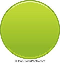 Green circle button empty web internet icon
