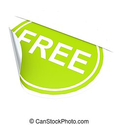Green circle label free image with hi-res rendered artwork...