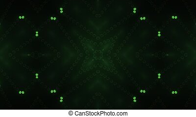 Green circle led animated VJ background