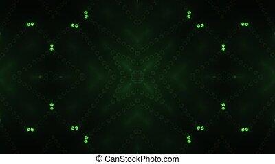 Green circle led animated VJ background