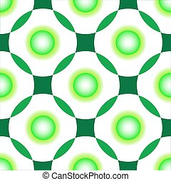 green circles seamless pattern