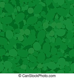 Green Circles Seamless Pattern.