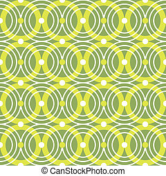Green circles seamless vector pattern
