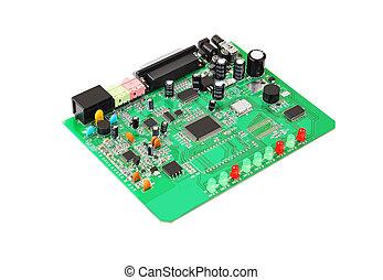 Green circuit board - Printed green circuit board from...
