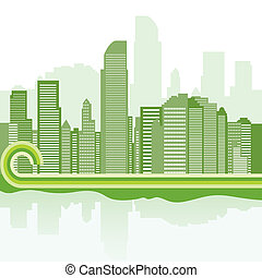 green city background - Jakarta