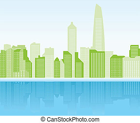 green city background - Shanghai