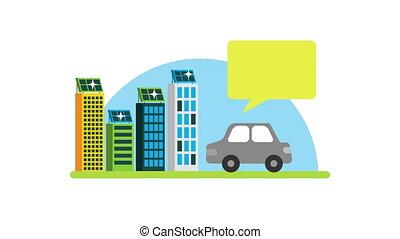 green city eco friendly ,4k video animation