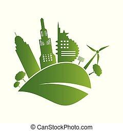 Green City Icon Logo