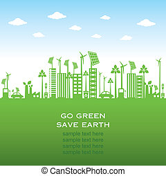 green city or go green, save earth