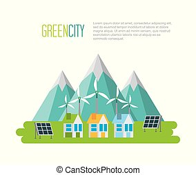 green city sustainable development with environmental conservation