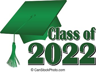 Green Class of 2022 Graduation Cap