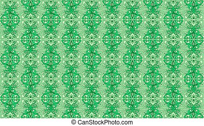 Green classic pattern