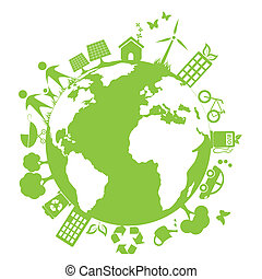 Green and clean environment symbols