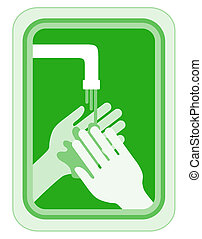 Green clean hands - Creative design of green clean hands