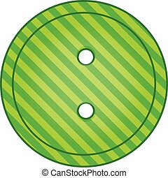 Green cloth button icon, cartoon style - Green cloth button...