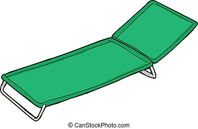 Green Cloth Lawn Chair