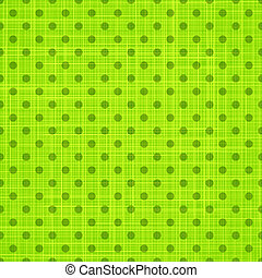 Green cloth texture background. Vector illustration.