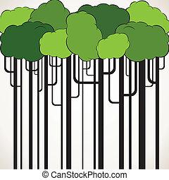 green cloud tree