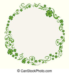 green clover circle background