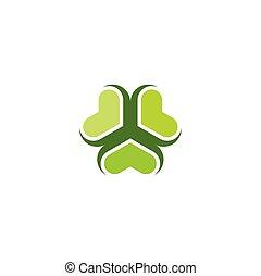 green clover icon leaves logo vector symbol design