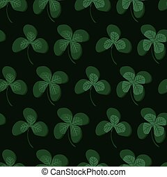 Green clover leafs