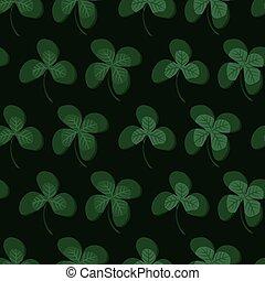 Green clover leafs