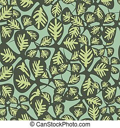 Green Clover Leaves Fashion Vector Background