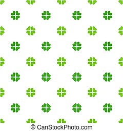 Green clover leaves pattern