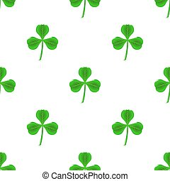 Green Clover Seamless Pattern