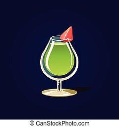 Green Cocktail Illustration