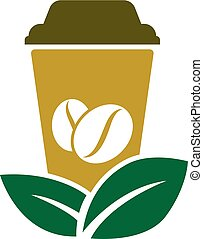 Green Coffee Logo Icon Design