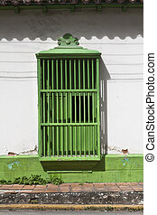 Green Colonial window