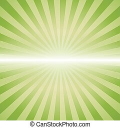 green color burst background.