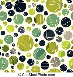 Green color circle seamless pattern