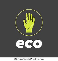 eco hand in circle