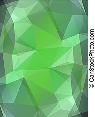Green color glass abstract background - Green emerald gem...