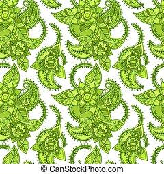 Green color line seamless design